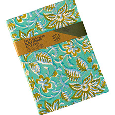 Recycled Paper Block Printed Notebook