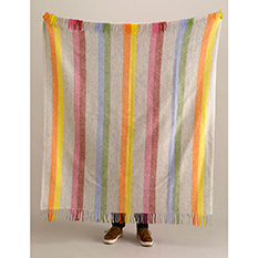 Pure Wool Rainbow Throw