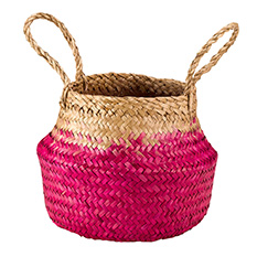 Pink Ombre Seagrass Basket Mini
