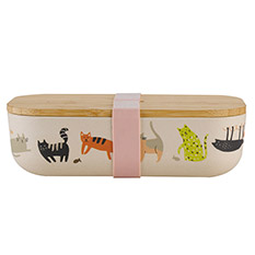 Bamboo Lunchbox Cats