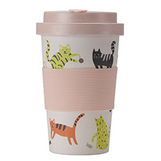 Bamboo Cup 400ml Cats