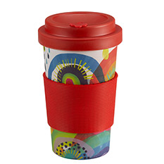 Rainbow Bamboo Travel Cup