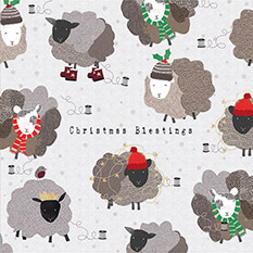 FUN SHEEP CHRISTMAS CARD (10 PACK)
