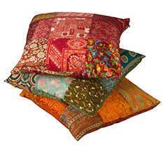 Recycled Sari Cushion Cover with pad