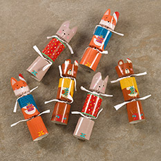 Woodland Animals - 6 mini Christmas crackers