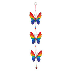 Rainbow Butterfly Garland Suncatcher