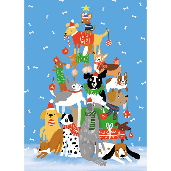 Pet Pyramid - Single Christmas Card