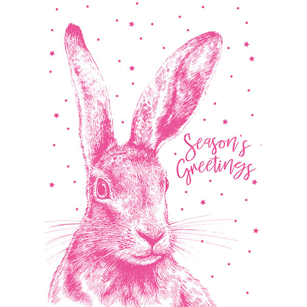 Neon Hare - Single Christmas Card