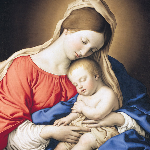 Madonna and Child (Welsh) - Single Christmas Card
