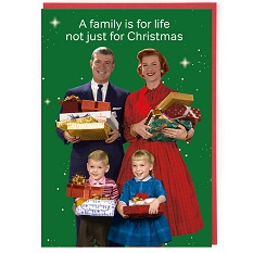 Cath Tate Single Christmas Card - Family for Life