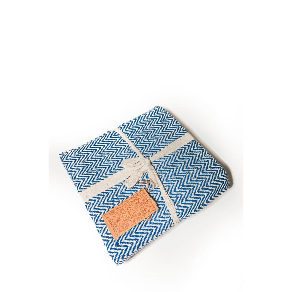 Woven Cotton Throw – Blue | Oxfam GB | Oxfam\'s Online Shop