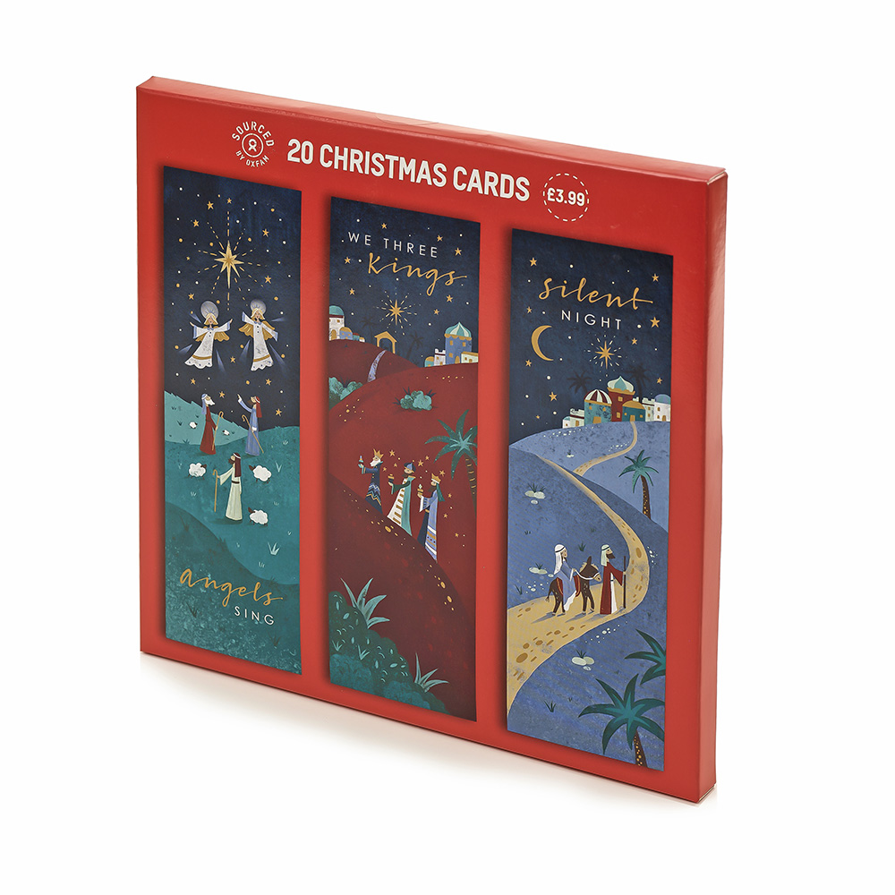Religious Christmas Cards Uk.Value Religious Slim Christmas Cards 20 Pack Oxfam Gb Oxfam S Online Shop