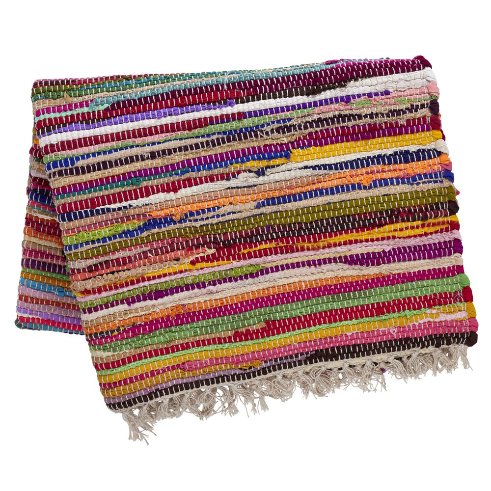 Large Rag Rugs For Sale Uk: Large Recycled Dhurrie Rug
