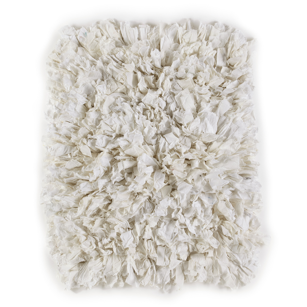 White Fluffy Recycled Rug
