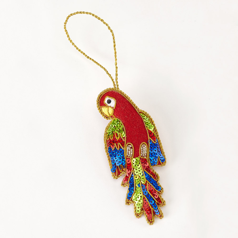 Oxfam Christmas Trees: Parrot Christmas Decoration